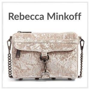 Rebecca Minkoff Mini M.A.C. Gray Velvet Crossbody